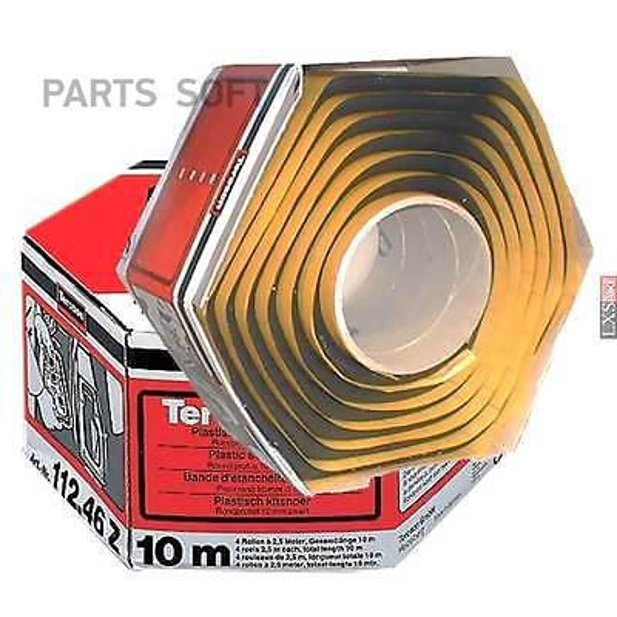 Пластичный герметик-лента, круглый профиль 10 мм, 10 м (черный)