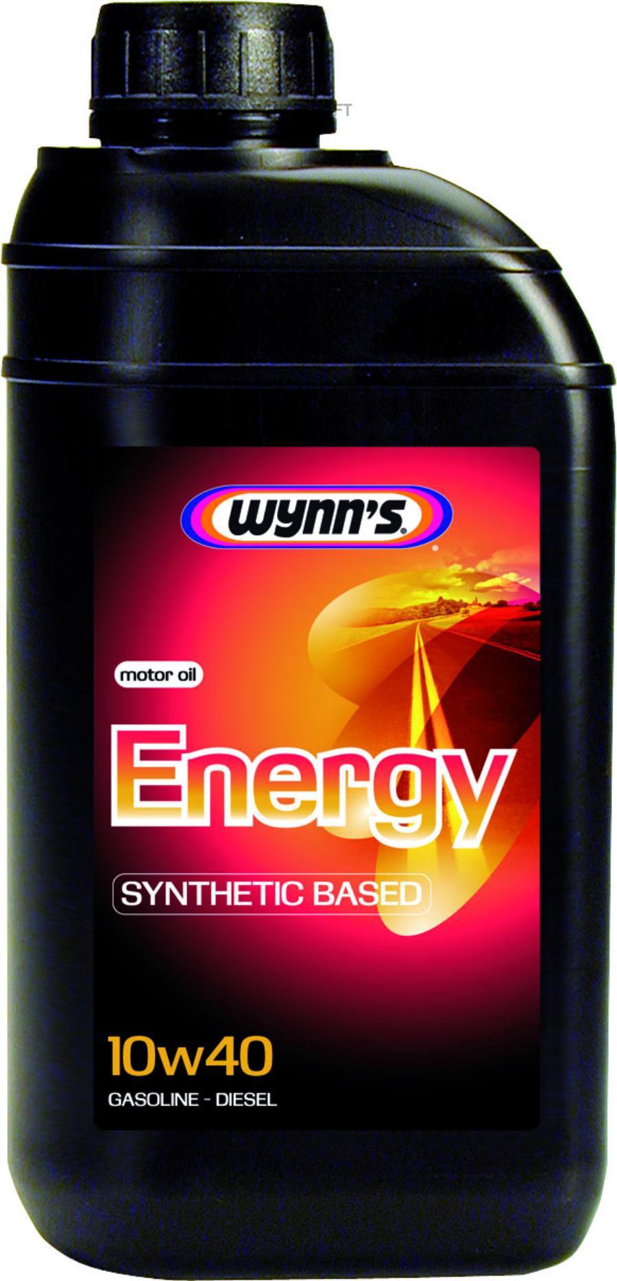 Моторное масло полусинтетическое WYNNS ENERGY 10W-40, 1л