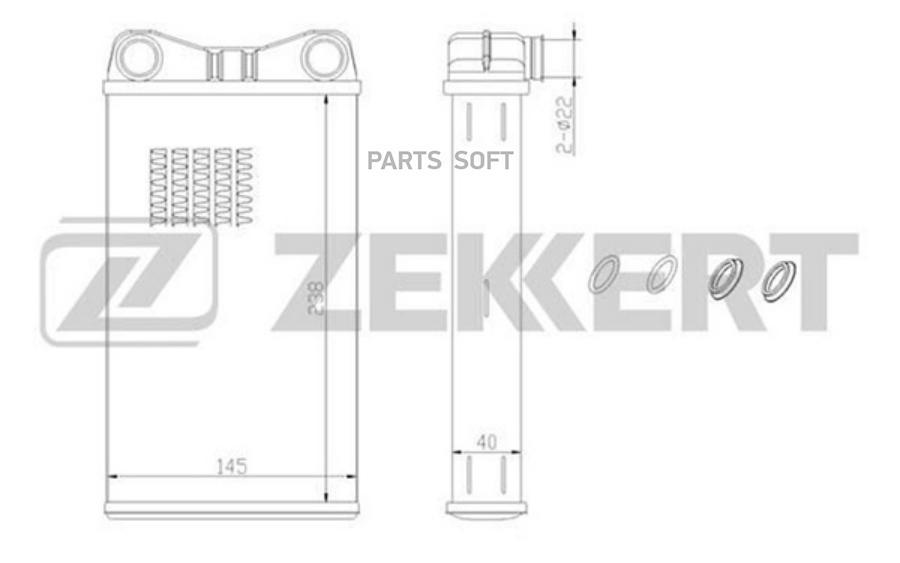 Радиатор отоп. Audi A4 II 00-, A4 III 04-, Seat Exeo 08-