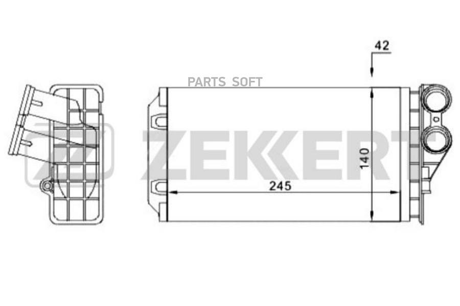 Радиатор отоп. Citroen C4 04-, Peugeot 307 05-