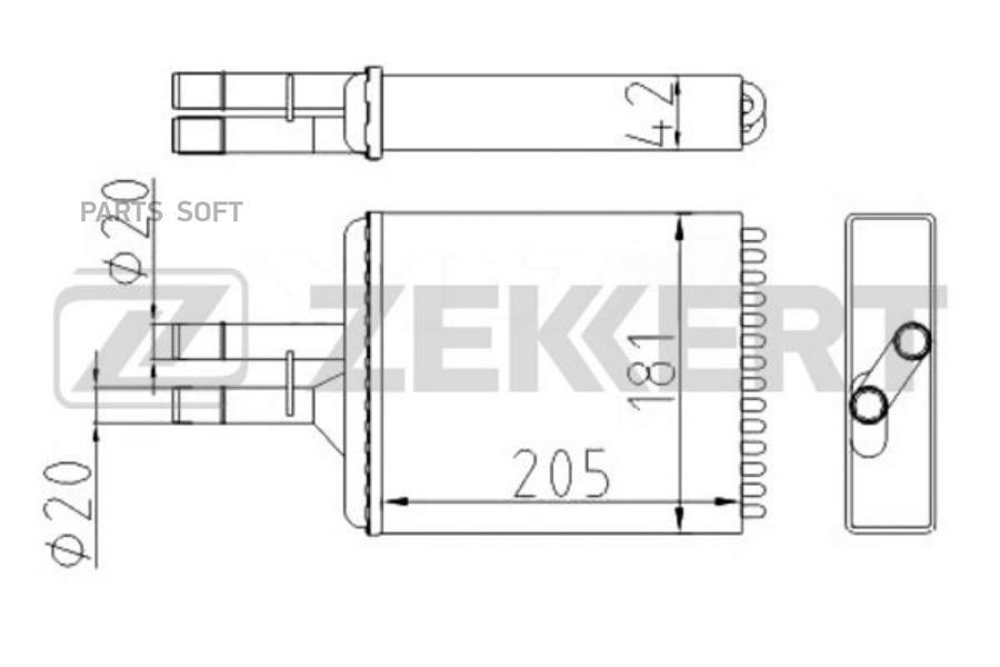 Радиатор отоп. Opel Vectra B 95-