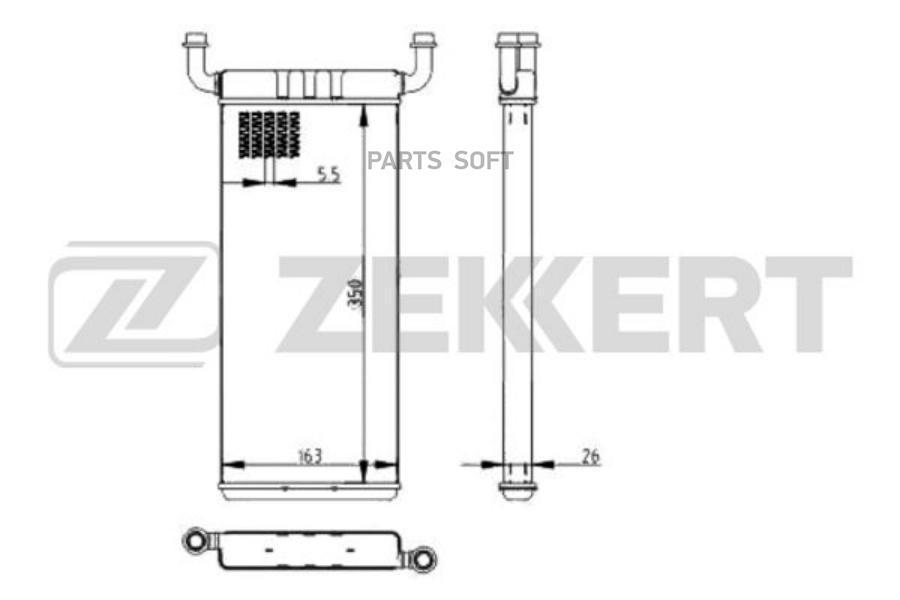 Радиатор отоп. MB Sprinter (906) 06-, VW Crafter 30-35 06-, Crafter 30-50 06-