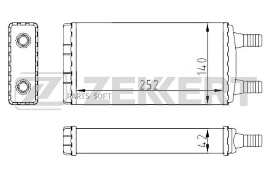 Радиатор отоп. GAZ Gazelle (33025, 33027) 09-, Gazelle-Business 09-
