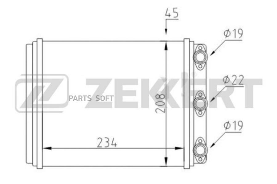 Радиатор отоп. MB Coupe (123) 77-