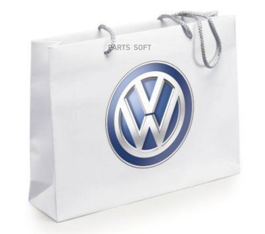 Бумажный подарочный пакет с ручками Volkswagen Logo Paper Bag White