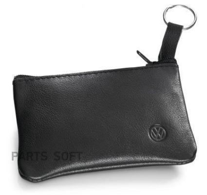 Кожаная ключница Volkswagen Leather Key Pouch Black