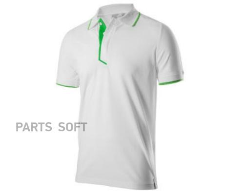 Мужская рубашка-поло Skoda Polo Shirt Mens Essential Collection White/Green