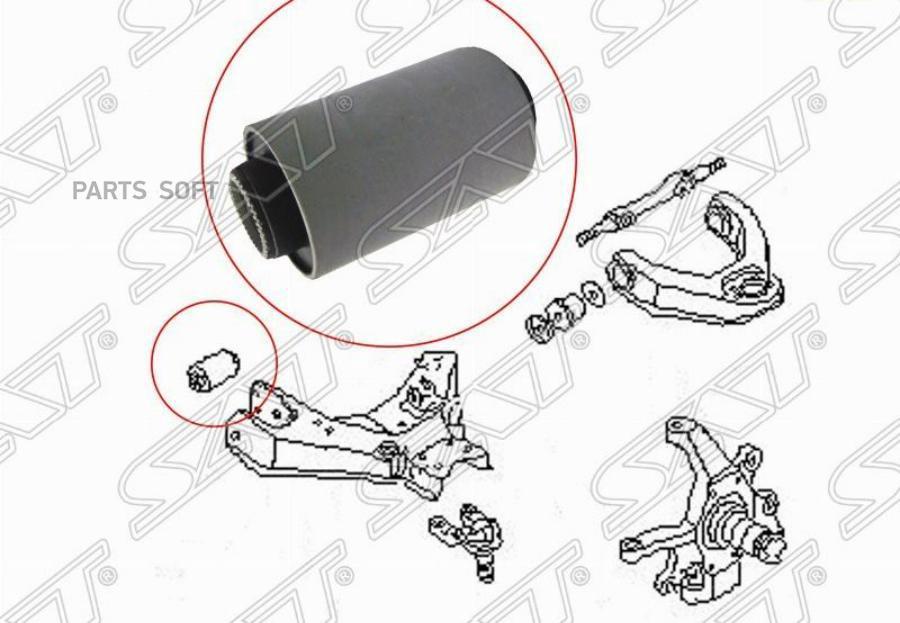 Сайлентблок FR переднего нижнего рычага Nissan Terrano WD21 / Datsun D21 2-4WD / D22 2WD