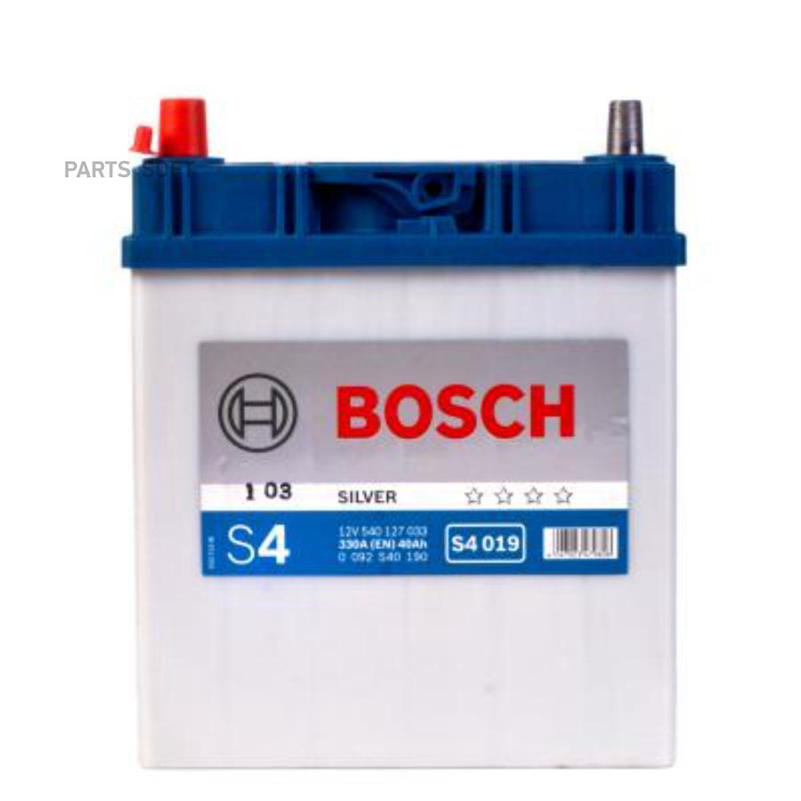 Аккумулятор BOSCH S4 019 12V 40Ah 330A 187x127x227 /+-/