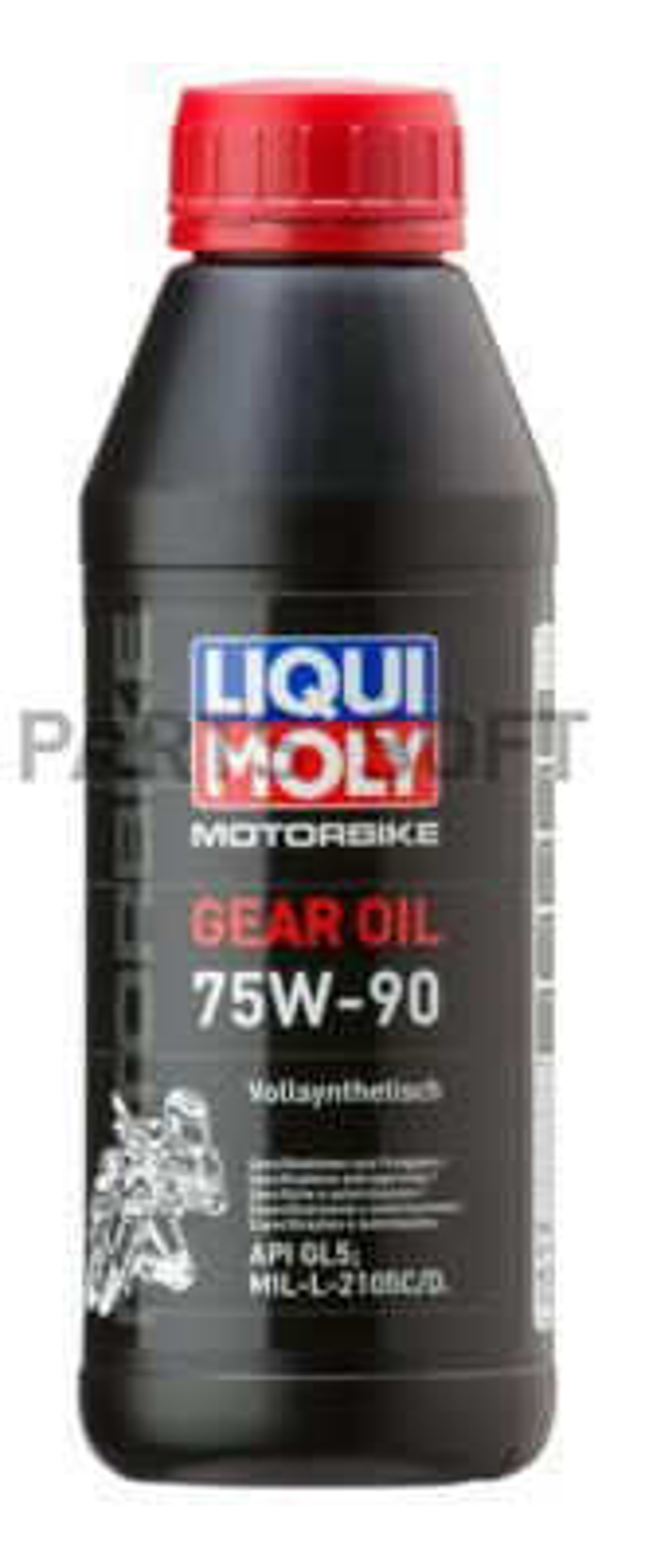 Синтетическое трансмиссионное масло для мотоциклов Motorbike Gear Oil 75W-90 0,5л
