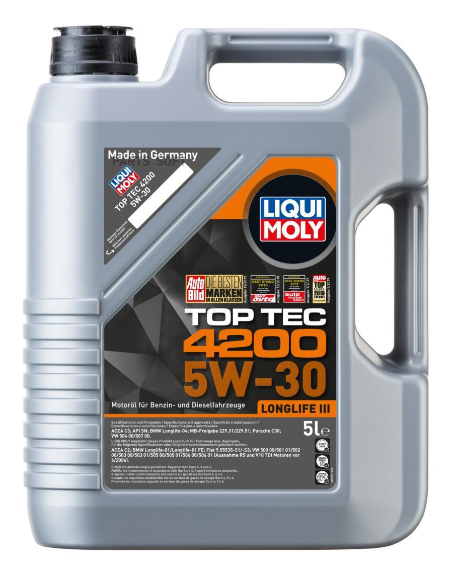 5W-30 SN TOP TEC 4200 5л (НС-синт.мотор.масло)