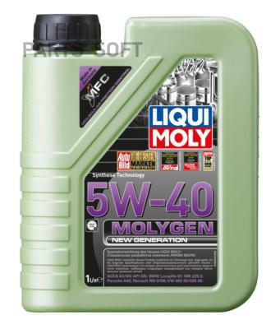 5W-40 SN/CF MOLYGEN NEW GENERATION 1л (НС-синт.мотор.масло)