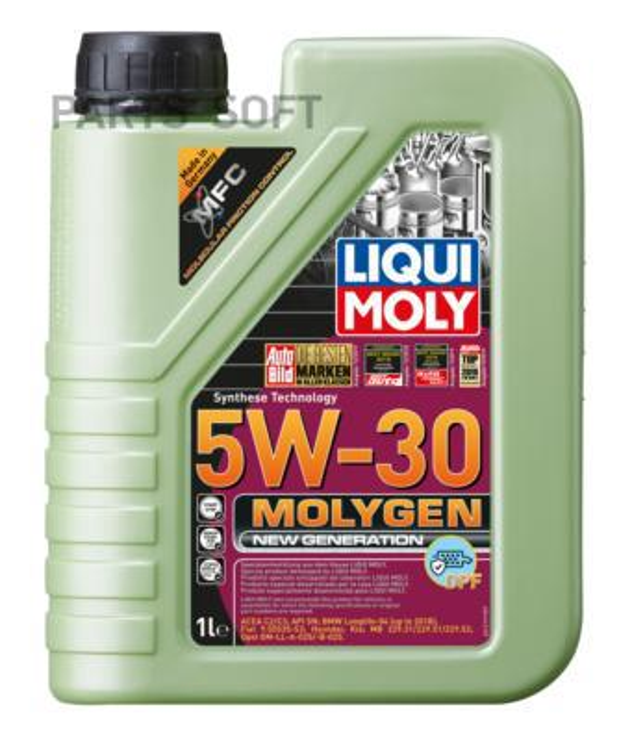 НС-синтетическое моторное масло Molygen New Generation DPF 5W-30 1л