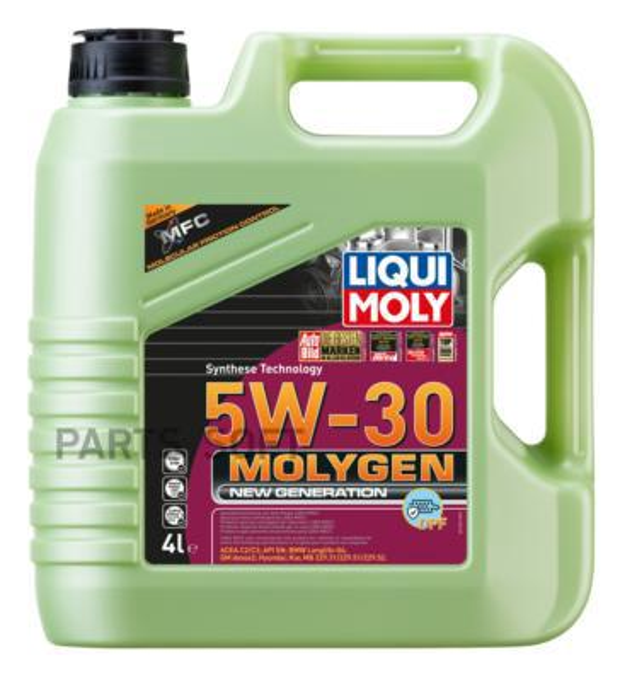 НС-синтетическое моторное масло Molygen New Generation DPF 5W-30 4л