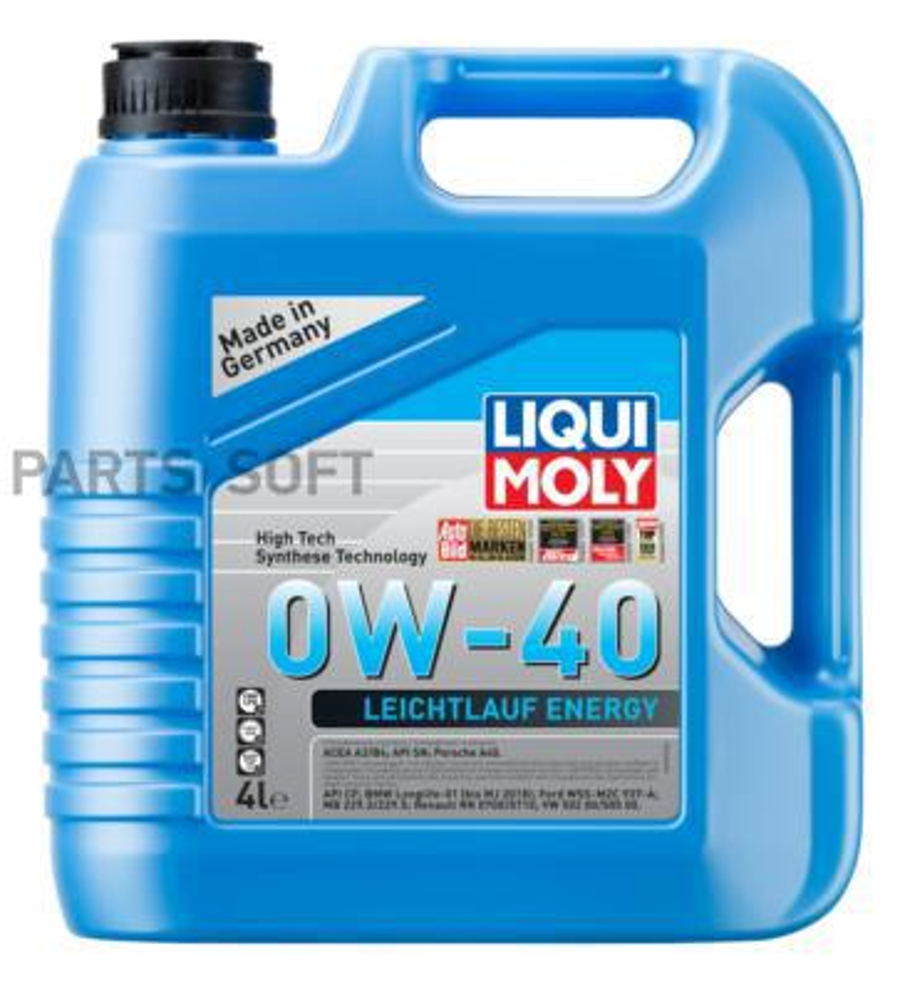 НС-синтетическое моторное масло Leiсhtlauf Energy 0W-40 4л