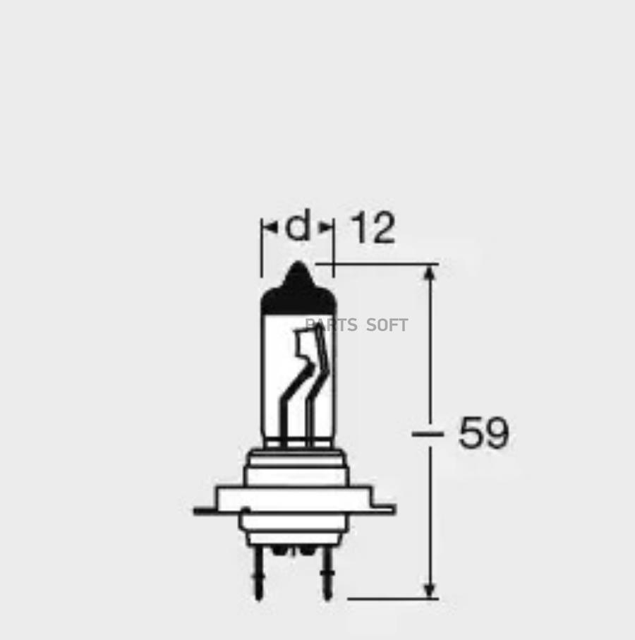 Лампа 12V H7 55W PX26d OSRAM NIGHT BREAKER LASER 2 шт. DUOBOX на 130% больше света на дороге
