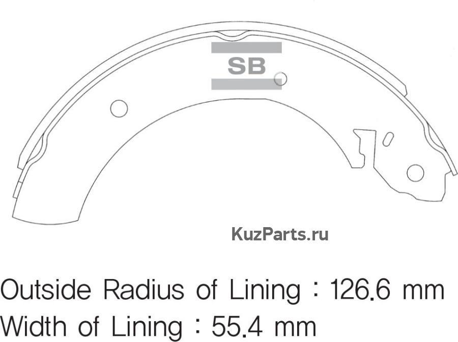 Колодки тормозные задние SA072GR