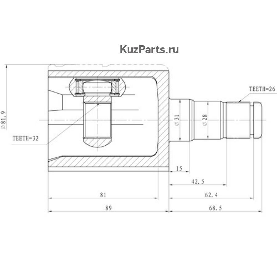 CV Joint Kit, Inner