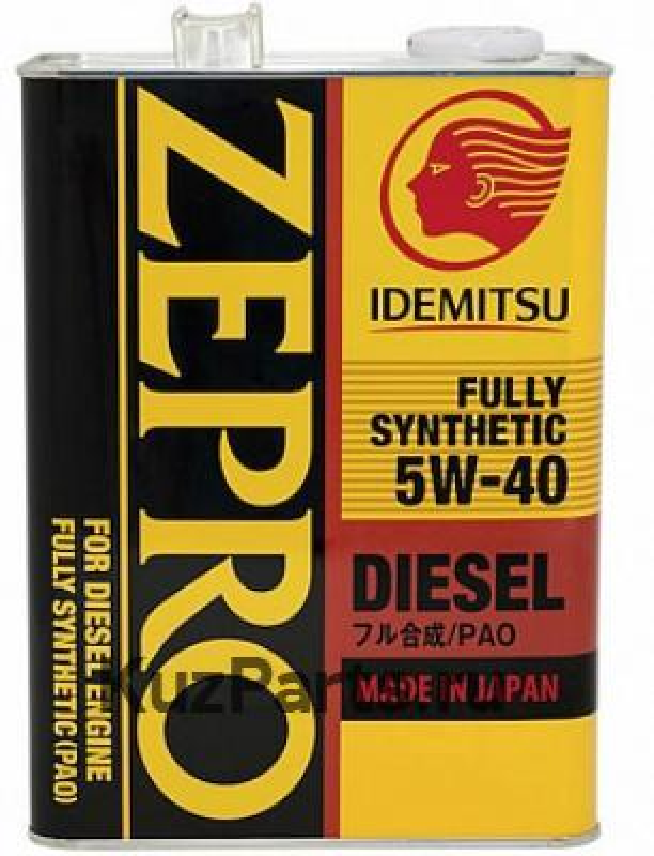 Масло моторное синтетическое Zepro Diesel 5W-40, 4л