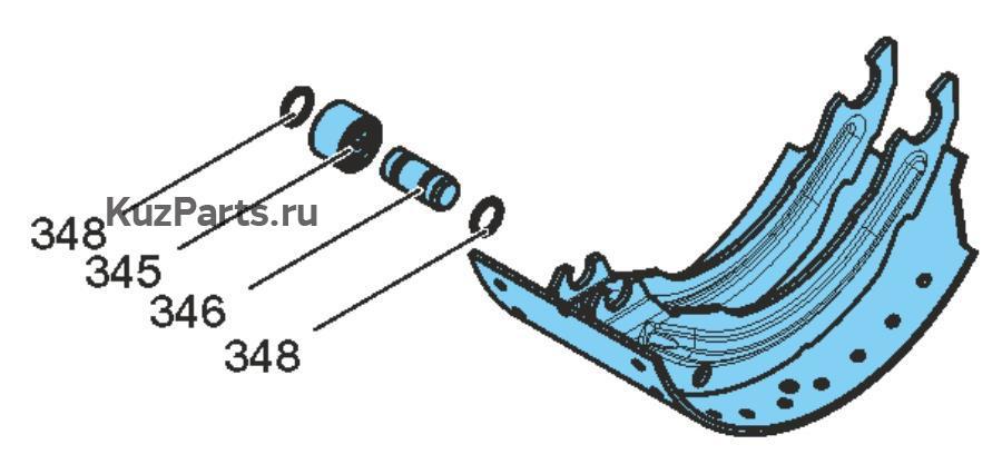 Комплект деталей для установки тормозной колодки, без накладкиВкл. поз. 345 - 348