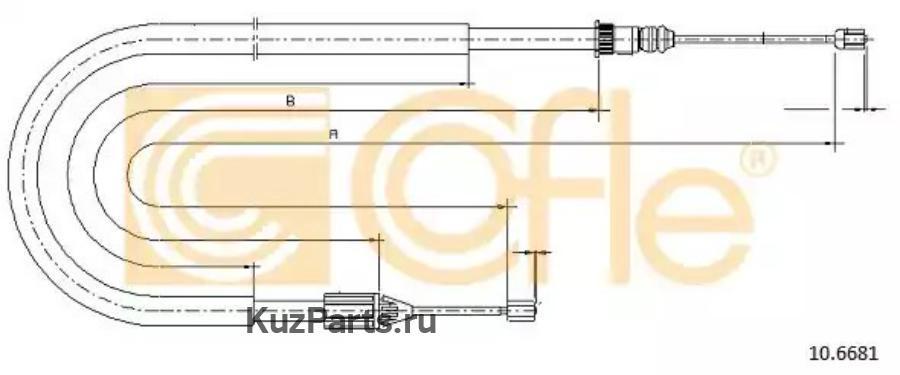 Трос, стояночная тормозная система