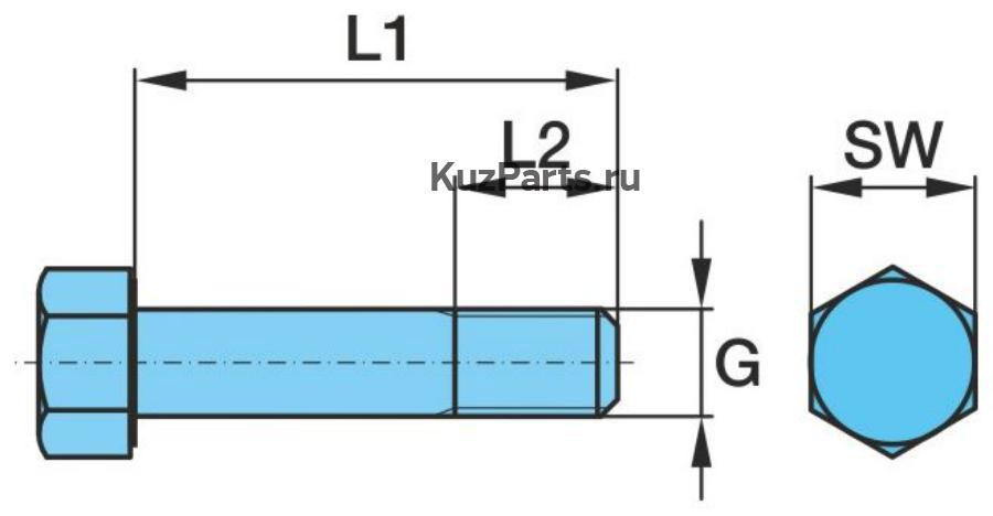Шестигранный болт (Палец ушка рессоры)Стопор против прокручивания со шлицевой втулкой