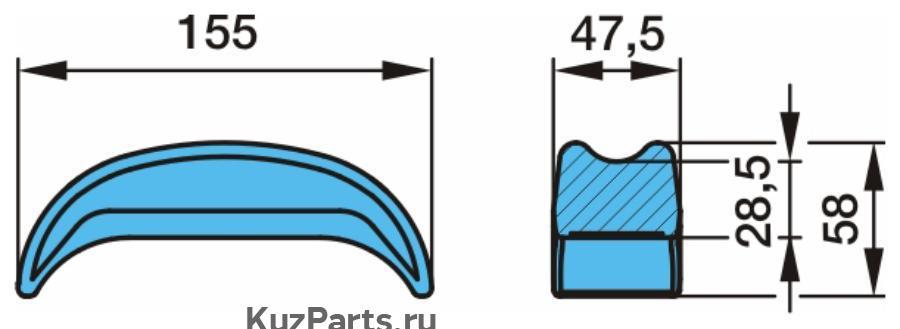 Сегмент (для круглой стремянки рессоры)