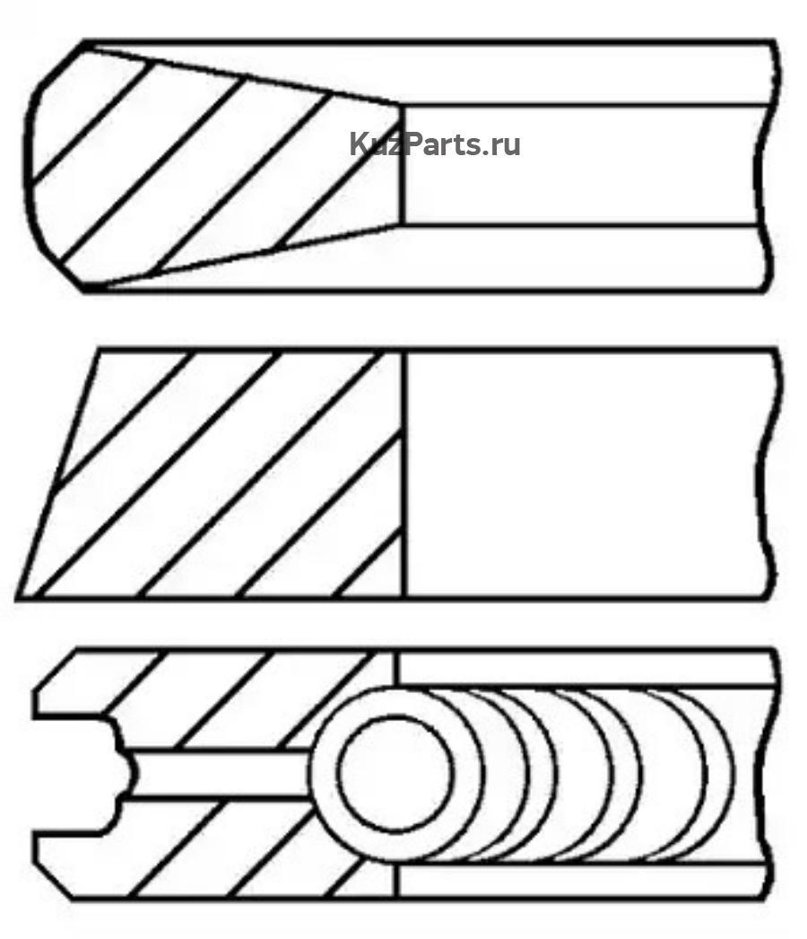 Комплект поршневых колец