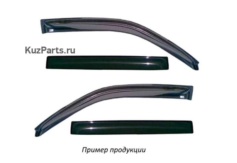 Дефлектор окон (НАКЛАДНОЙ скотч 3М) 4 шт. MITSUBISHI PAJERO SPORT  I 1998-2008 внедорожник