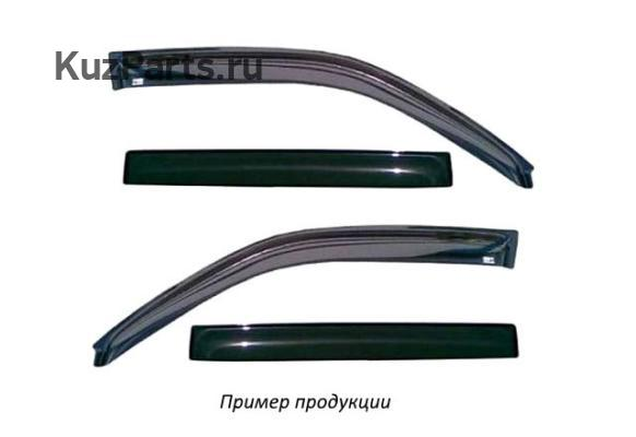 Дефлектор окон (НАКЛАДНОЙ скотч 3М) 4 шт. MAZDA 3 (BK)2003-2009 седан