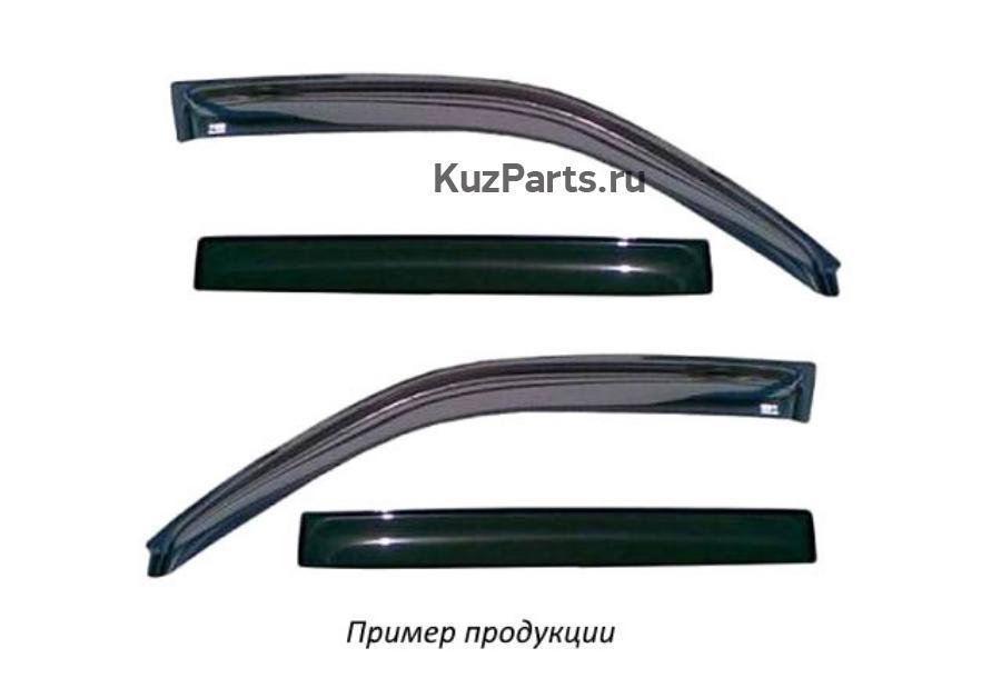 Дефлектор окон (НАКЛАДНОЙ скотч 3М) 4 шт. BMW X5 II (Е70) 2006-2013 внедорожник