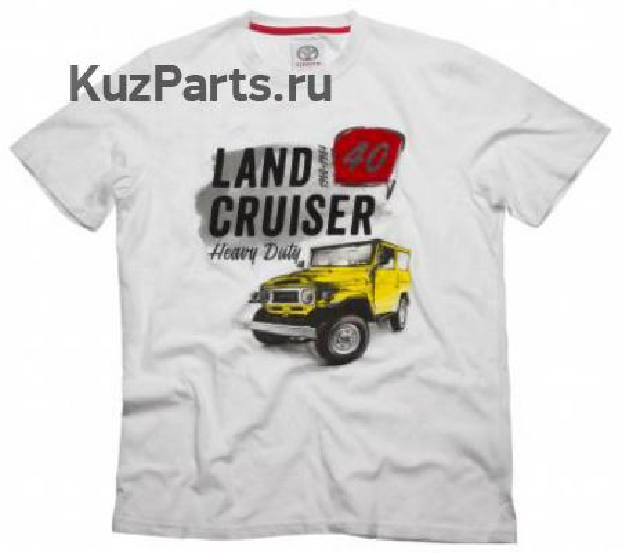 Футболка Мужская Toyota Men's T-Shirt Land Cruiser 40 White