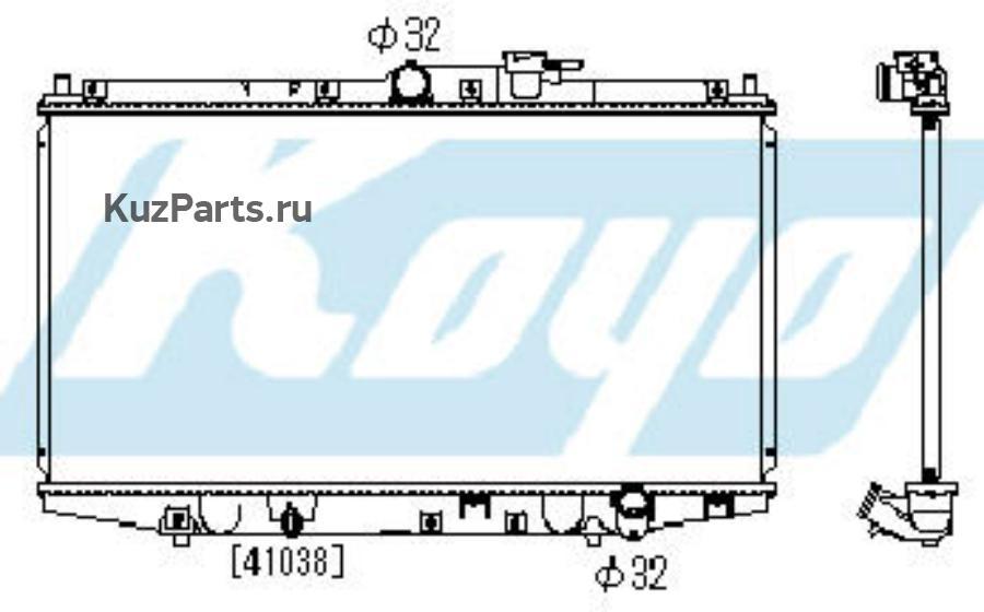 ORD {СD/PRELUDE 97-} РАДИАТОР ОХЛАЖДЕН MT 2 2.2 (KOYO)