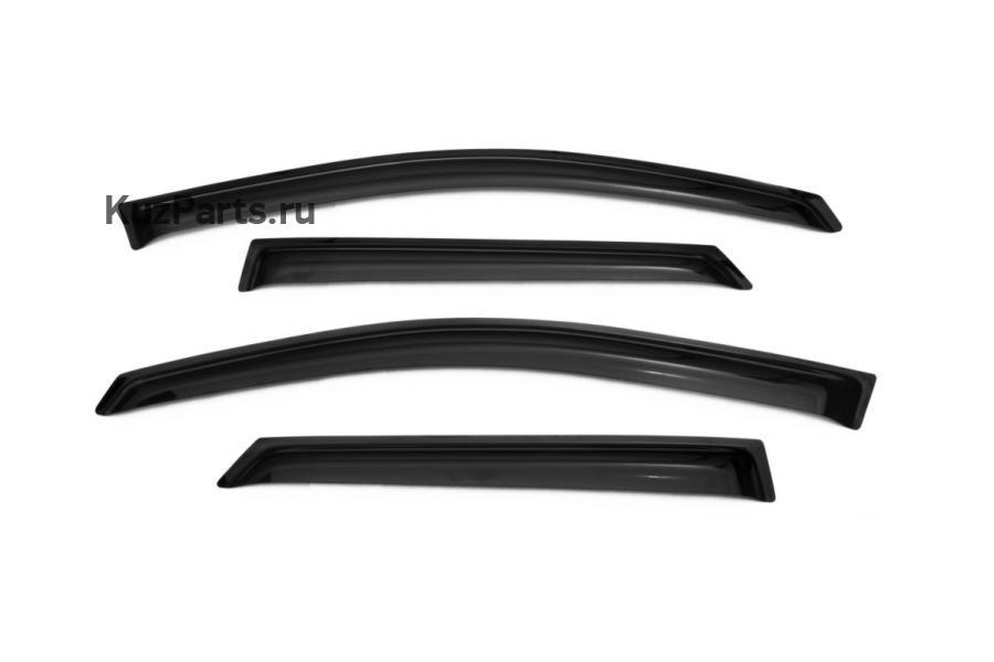 Дефлекторы окон Peugeot 3008 4ч, 16-, темные