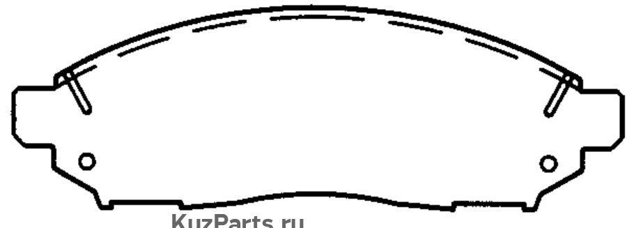 КОЛОДКА ТОРМОЗНАЯ ДИСКОВАЯ передние NISSAN Murano 03- , Navara 05- , Pathfinder 05- , Quashqai 07-