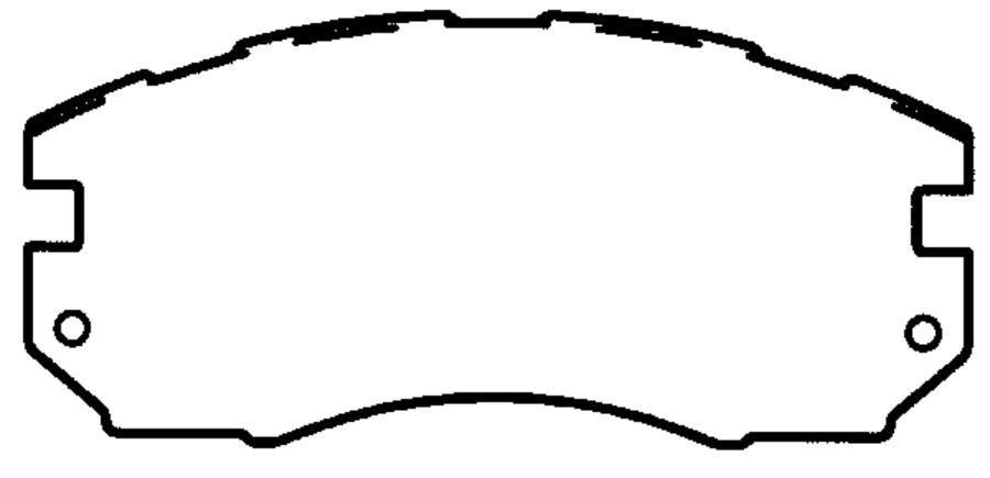 КОЛОДКА ТОРМОЗНАЯ ДИСКОВАЯ передние SUBARU FORESTER 97/08-02/09, IMPREZA 92/08-00/12, LAGACY 98/10-