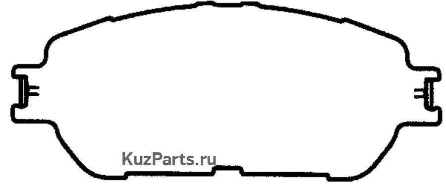 КОЛОДКА ТОРМОЗНАЯ ДИСКОВАЯ передние LEXUS ES300 01->WINDOM '01.7~on;ALPHARD '02.5~on;