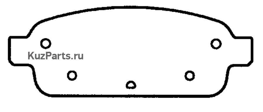 КОЛОДКА ТОРМОЗНАЯ ДИСКОВАЯ задние Chevrolet Cruze 09- , Orlando 11-  Opel Astra J 09- , Astra Spor