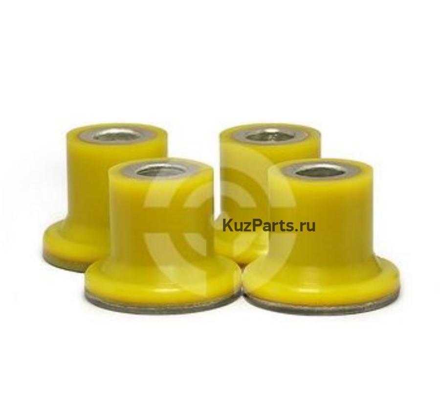 Комплект полиуретановых сайлентблоков рулевой рейки, 4 шт
