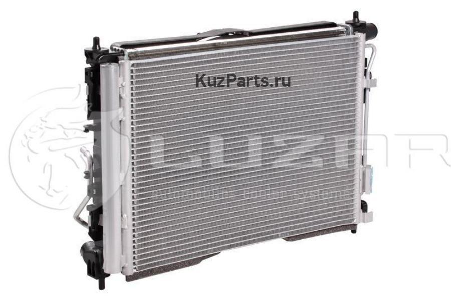 Блок охл. (радиатор+конденсер+вентилятор) для Solaris (17-)/Rio (17-) AT