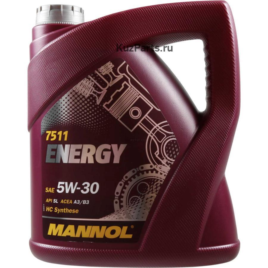 7511 MANNOL ENERGY 5W30 (SL) 5 л. Синтетическое моторное масло 5W-30