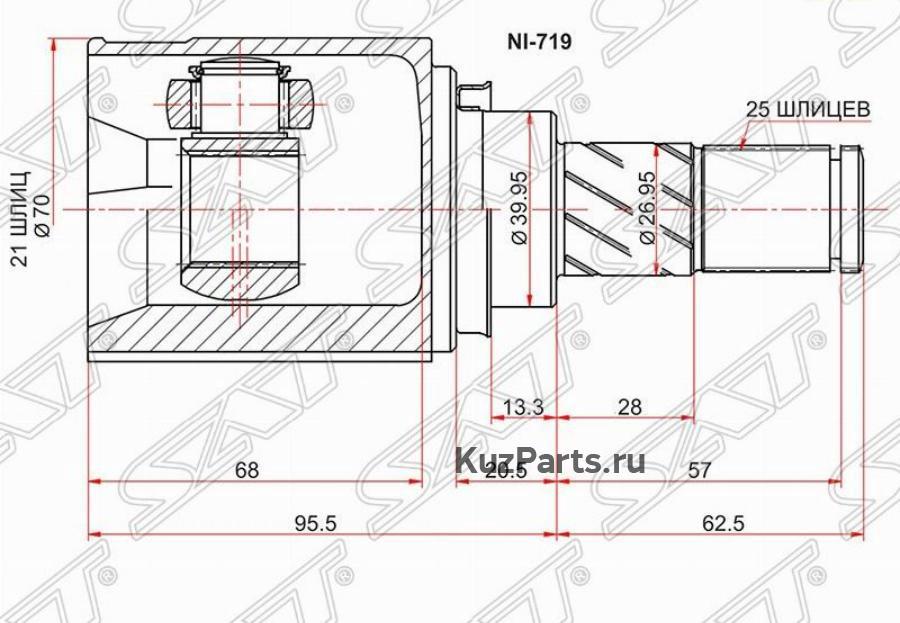 Шрус внутренний RH / LH NISSAN NOTE E11 HR16 ATM 05-11