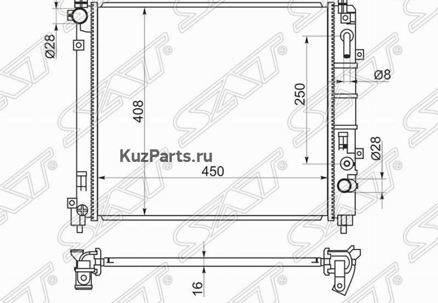Радиатор NISSAN MARCH / MICRA K13 10- HR12
