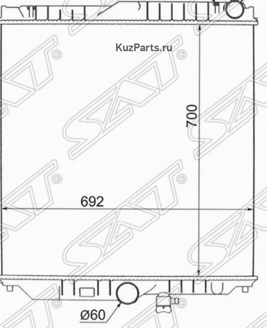 Радиатор NISSAN UD PF6TA / PF8TA CD45 / CW45 98