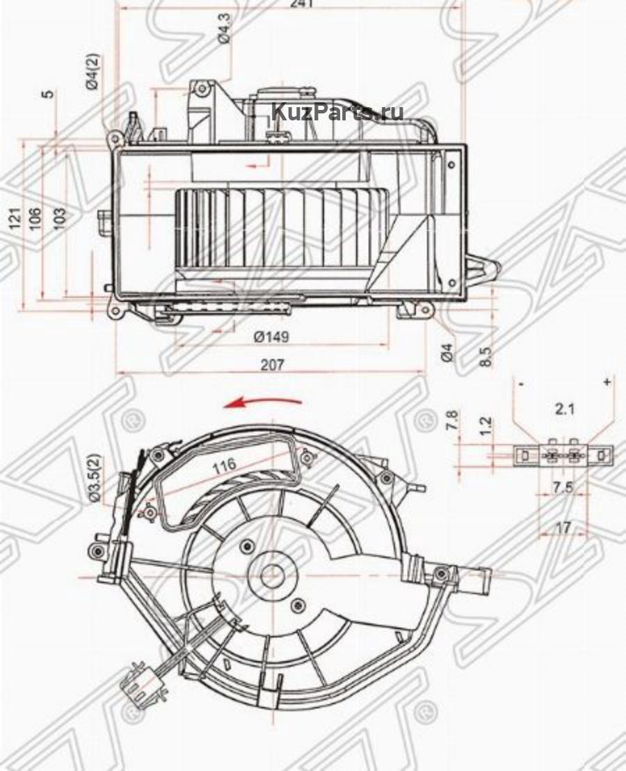 Мотор отопителя салона AUDI A6 / S6 05
