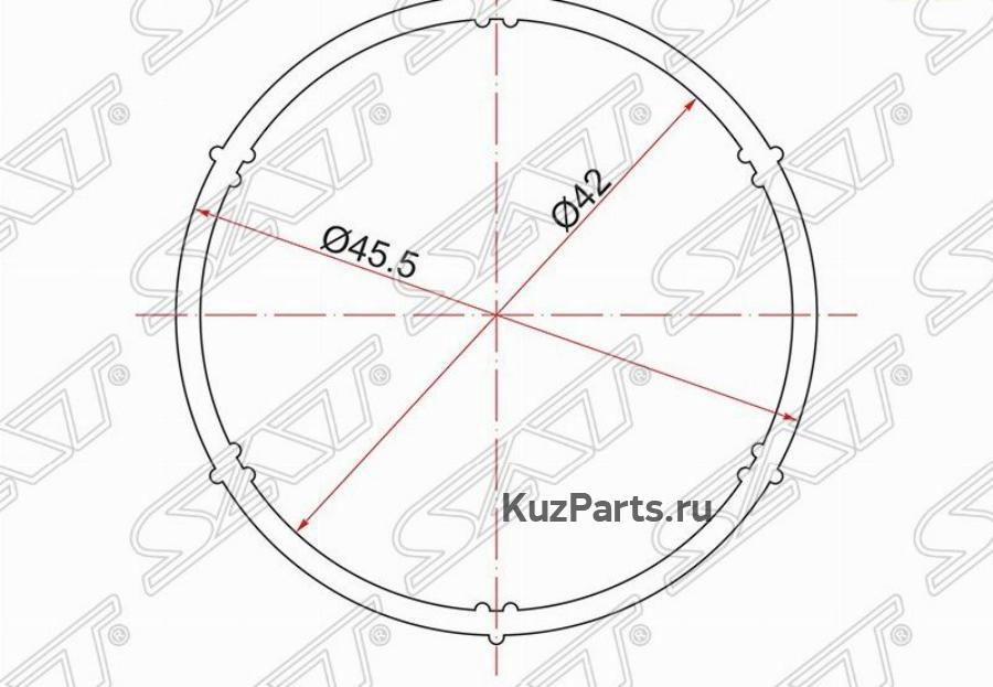 Прокладка впускного коллектора SKODA OCTAVIA 04- / AUDI A3 96-12 / VOLKSWAGEN GOLF 97- /