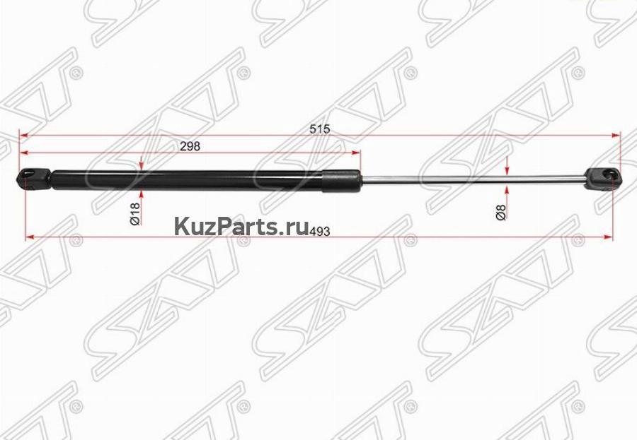 Амортизатор багажника PEUGEOT 307 Break (3E) 02-, 307 SW (3H) 02