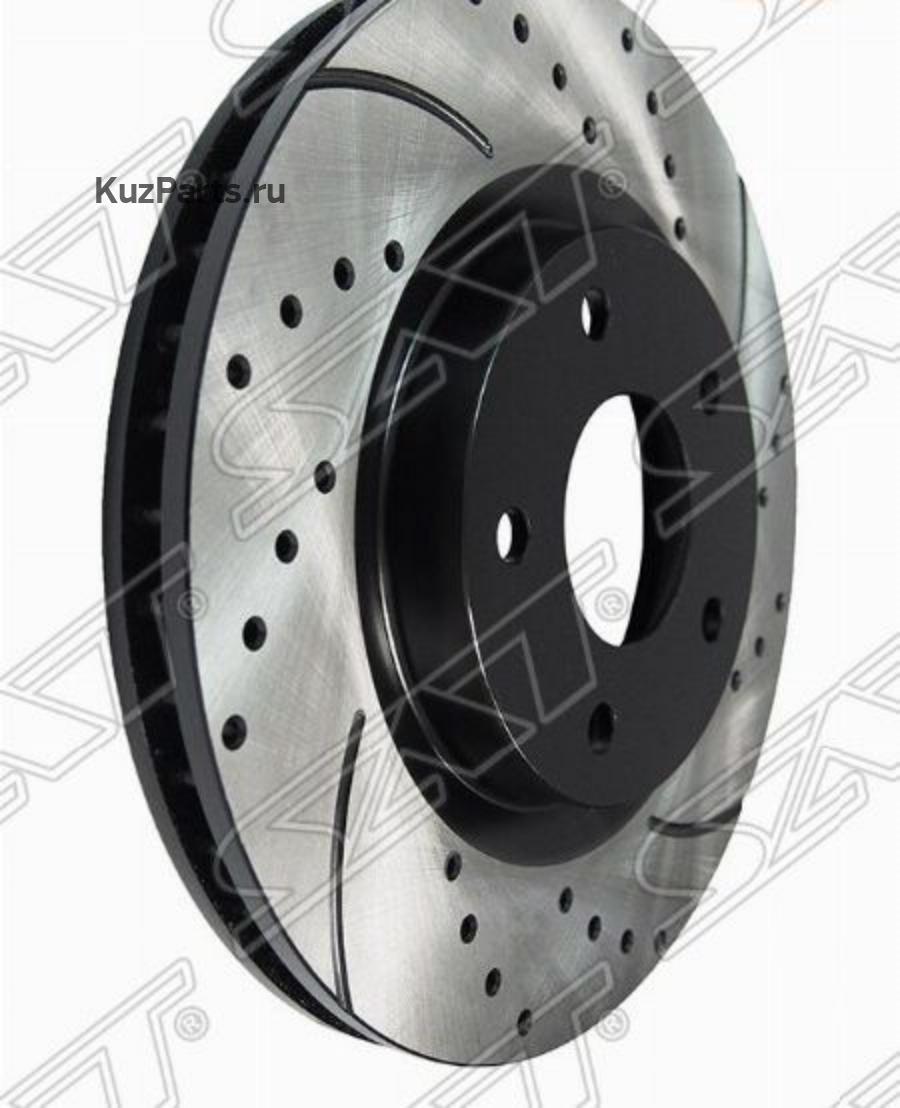 Комплект дисков тормозных передний перфорированные NISSAN Qashqai J10E, X-Trail T31, 07