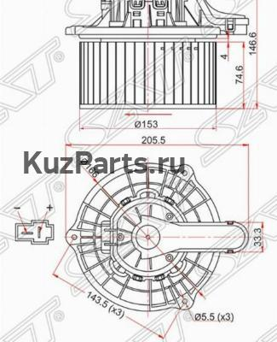 Мотор отопилеля салона HYUNDAI IX35 / TUCSON 10- / KIA SPORTAGE 10