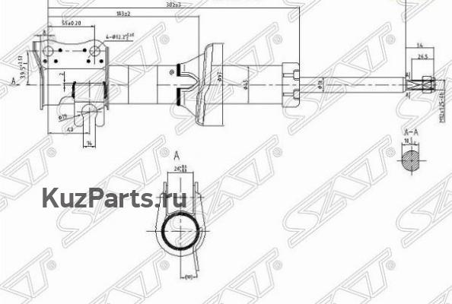Стойка передняя CHEVROLET / DAEWOO MATIZ / SPARK 98-05 RH